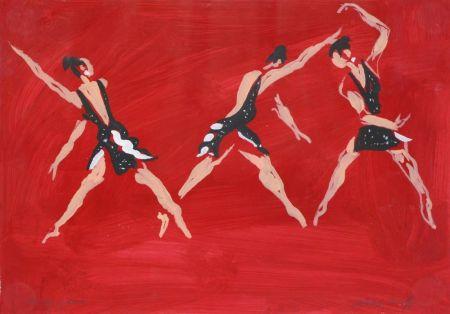 "Aucune Technique Caulfield - Untitled (Female Costume Design for ""Party Game"" 1984"