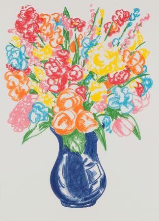 Sérigraphie Koons - Untitled (Flowers)