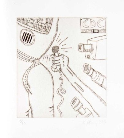 Gravure Haring - Untitled from