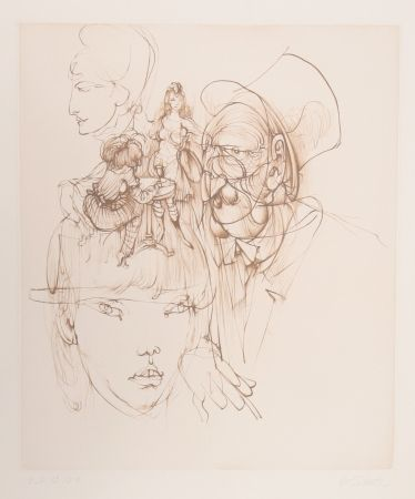 Gravure Bellmer - Untitled (from Alice in Wonderland)