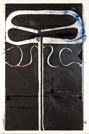 Lithographie Diebenkorn - Untitled (from Club/Spade Group '81-82)