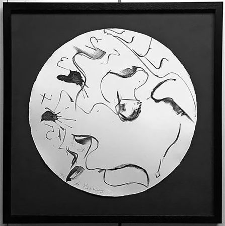 Lithographie De Kooning - Untitled from Self Portrait in a Convex Mirror