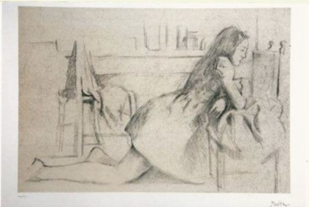 Lithographie Balthus - Untitled I (meditation)