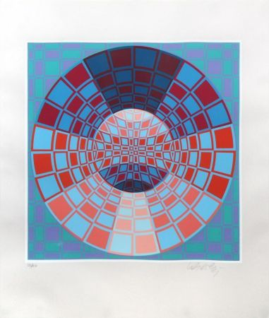 Sérigraphie Vasarely - Untitled II