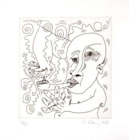 Gravure Haring - Untitled III from