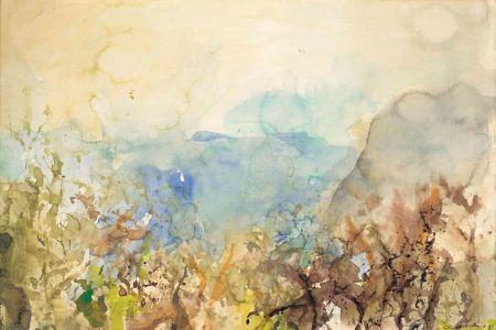 Aucune Technique Zao - Untitled Landscape 1985
