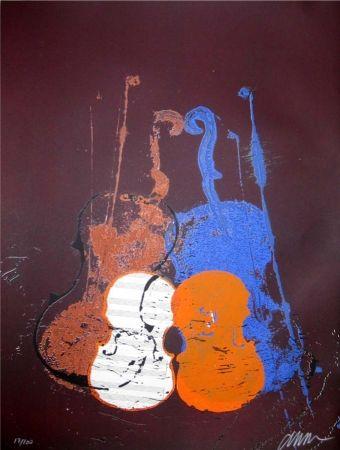 Sérigraphie Arman - Untitled (Mélodie)