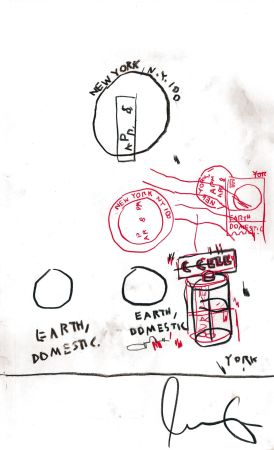 Aucune Technique Basquiat - Untitled Original Crayon Drawing On Paper,