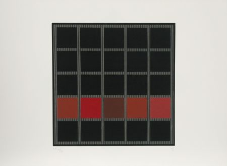 Sérigraphie Soto - Untitled (Red)