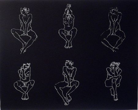 Sérigraphie Graham - Untitled, Six Nudes