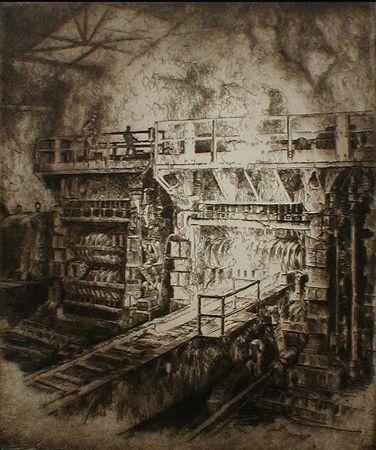 Eau-Forte Kuhler - Untitled (steel mill)