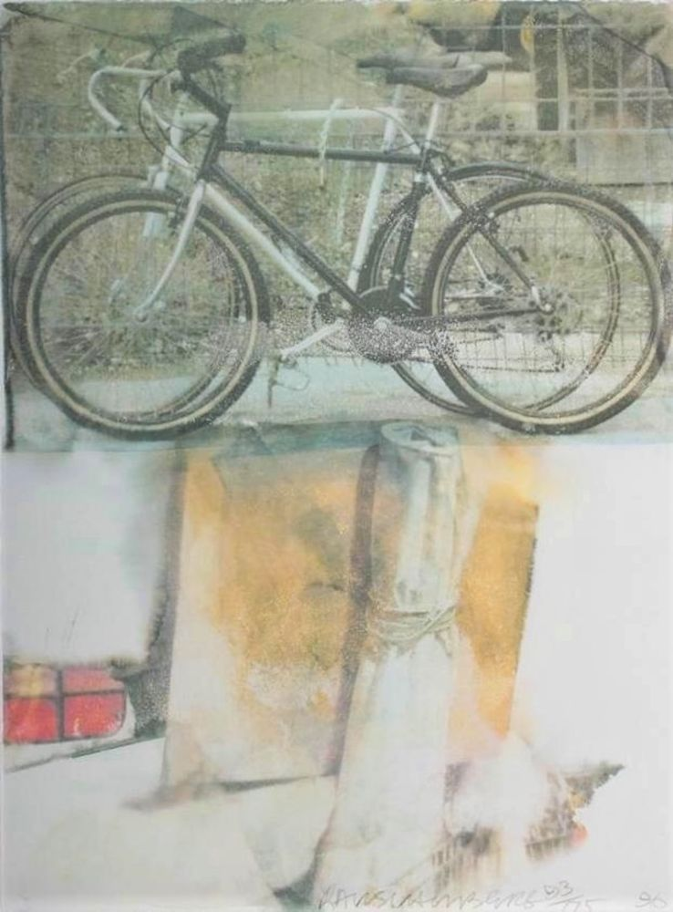 Sérigraphie Rauschenberg - Untitled (Two Bicycles)
