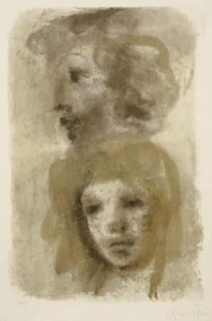 Lithographie Fini - Untitled (two portraits)