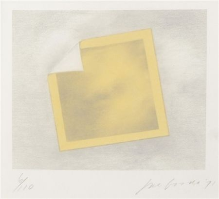 Lithographie Goode - Untitled (yellow folded photo)