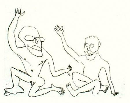 Gravure Calder - Uomini nudi