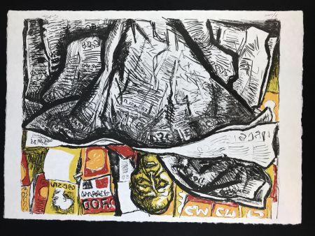 Lithographie Guttuso - Uomo con Giornale