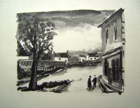 Lithographie Vlaminck - Us, la Place