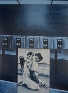 Sérigraphie Monory - USA 76 - etreinte