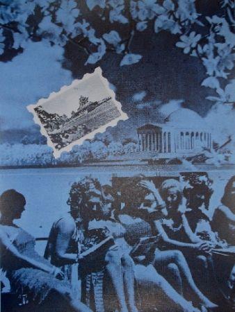 Sérigraphie Monory - USA 76 - Plage