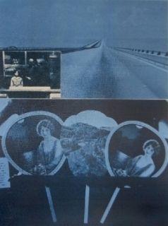 Sérigraphie Monory - USA 76 - Road
