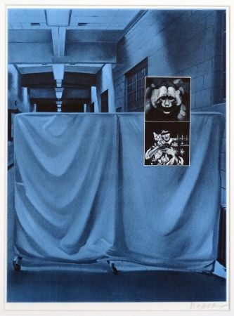 Sérigraphie Monory - USA 76 - Singe