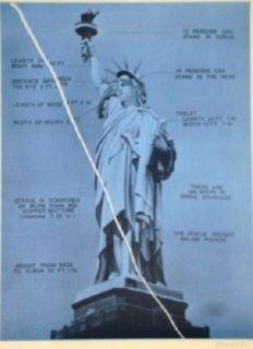 Sérigraphie Monory - USA 76 - Statue de la liberté