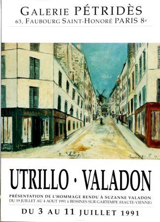 Affiche Utrillo - Utrillo-Valadon  Rue Tholozé