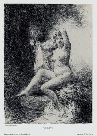 Lithographie Fantin-Latour - Vérité (petite planche)