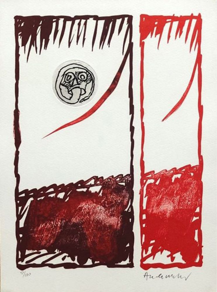 Eau-Forte Alechinsky - '' Vaccillations '' Diptyque