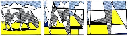 Lithographie Lichtenstein - Vaches