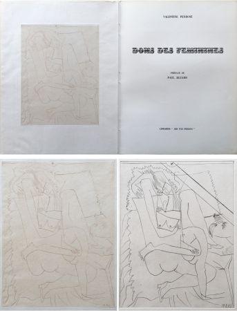 Livre Illustré Picasso - Valentine Penrose : DONS DES FÉMINIES (1951). 1 des 50 avec une eau-forte en 2 états.