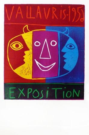 Linogravure Picasso - Vallauris 1956