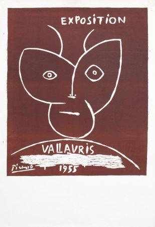 Linogravure Picasso - Vallauris 55