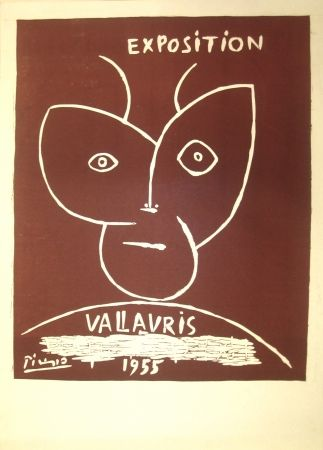 Linogravure Picasso - Vallauris Exhibition
