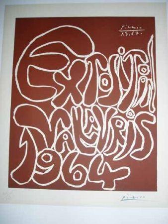 Linogravure Picasso - Vallauris Exhibition 1964