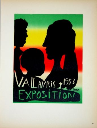 Lithographie Picasso - Vallauris Exposition 1953