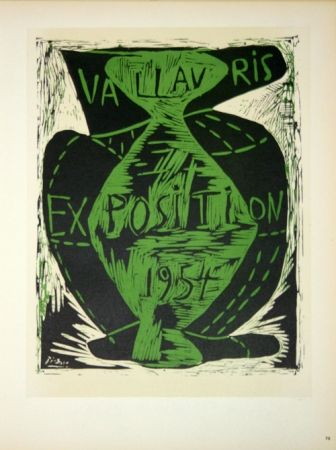 Lithographie Picasso - Vallauris Exposition 1954