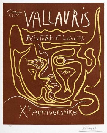 Linogravure Picasso - Vallauris Peinture et Lumière, Xᵉ Anniversaire (Vallauris Painting and Light, Tenth Anniversary), 1964