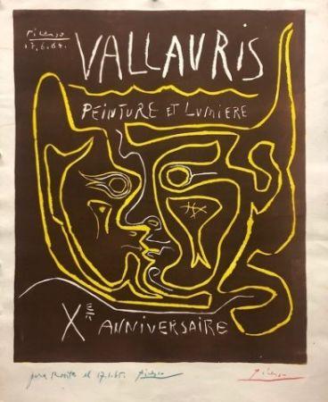 Linogravure Picasso - Vallauris, peinture et lumière X Anniversaire