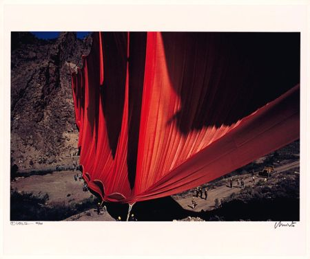 Photographie Christo - Valley Curtain