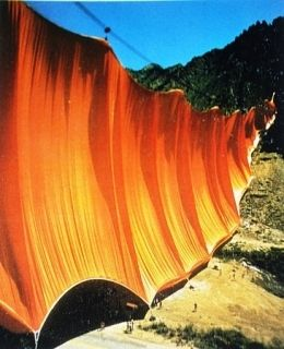 Multiple Christo - Valley Curtain, Rifle, Colorado, 1970-72