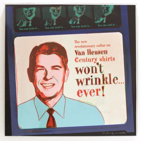 Sérigraphie Warhol - Van Heusen (Ronald Reagan) (FS II.356)