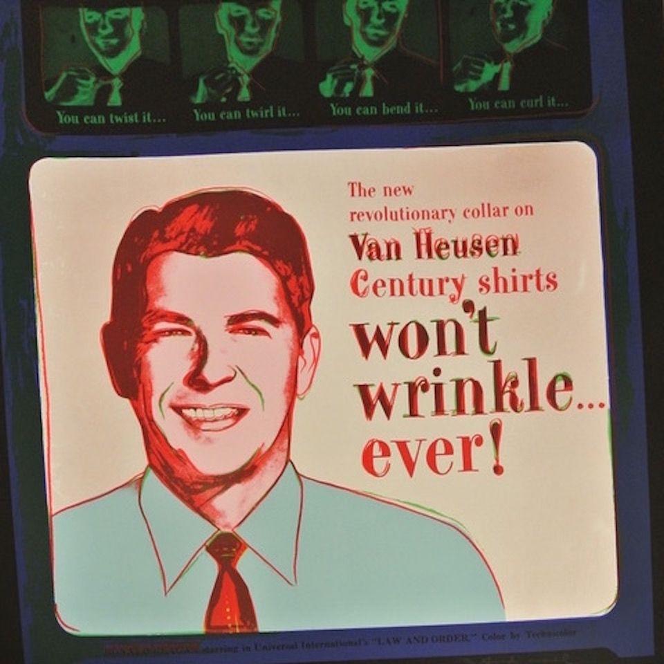Sérigraphie Warhol - Van Heusen (Ronald Regan) (FS II.356)