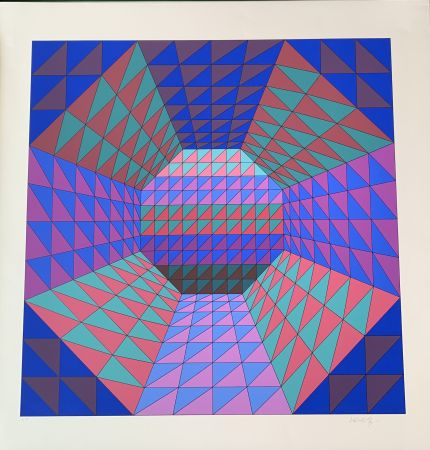 Sérigraphie Vasarely - Vancouver 7