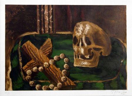 Lithographie Braque - Vanitas