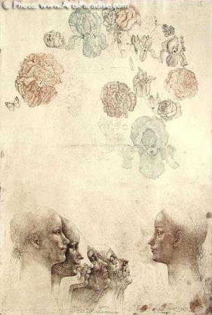Eau-Forte Anderlê - Vanitas IV (1983)