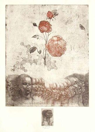 Eau-Forte Anderlê - Vanitas V (1983)