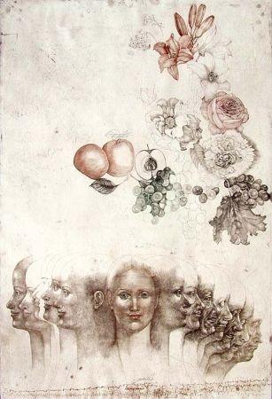 Eau-Forte Anderlê - Vanitas VIII (1983)