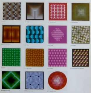 Lithographie Bird - Vasarely reflections - 15 lithographs
