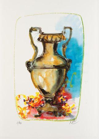 Sérigraphie Lüpertz - Vase 1